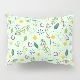 Floral Greenery Pattern I Pillow Sham
