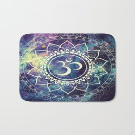 Om Mandala : Deep Pastels Galaxy Bath Mat