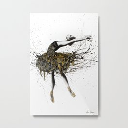 Black Swan Night Metal Print