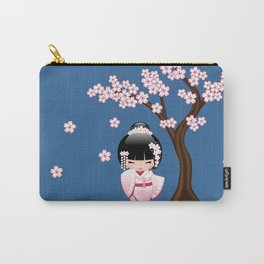 Japanese Bride Kokeshi Doll Carry-All Pouch