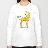 giraffe Long Sleeve T-shirts featuring Giraffe by gunberk