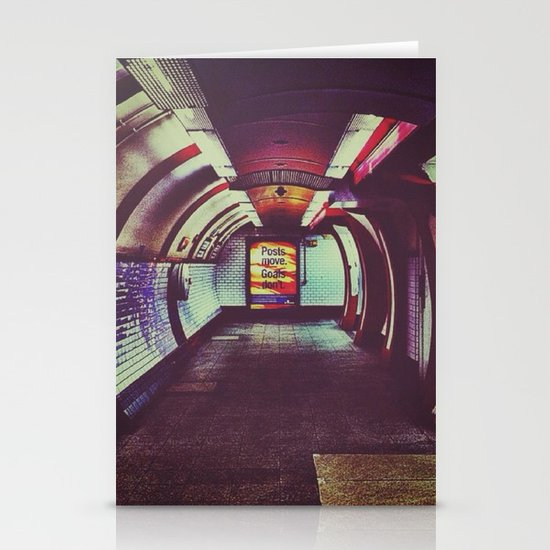 Though the tunnel Stationery Cards