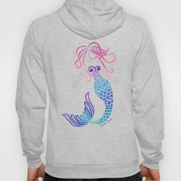 Tribal Mermaid with Ombre Turquoise Background Hoody