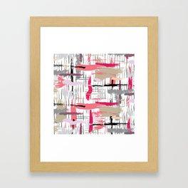 Pink Brushstroke Framed Art Print