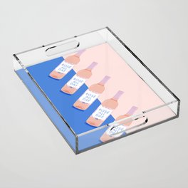 Rosé All Day Acrylic Tray