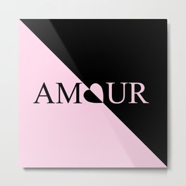 Pink AMOUR Design Metal Print