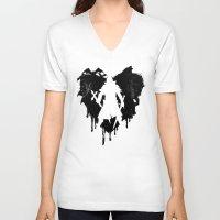 castlevania V-neck T-shirts featuring I LOVE Castlevania by Marcos Raya Delgado