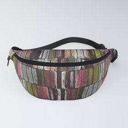 Colored Weathered Wood Board Panel Fanny Pack