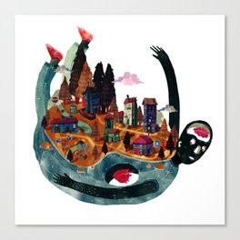 Wold in my back Canvas Print