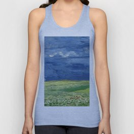Vincent van Gogh - Wheatfield Under Thunderclouds Unisex Tank Top