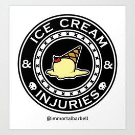 Ice Cream & Injuries Art Print