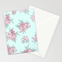 Pink Fields Pattern Stationery Cards