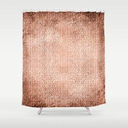 Coral Metallic Surface Shower Curtain