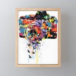 Paint DSLR Framed Mini Art Print