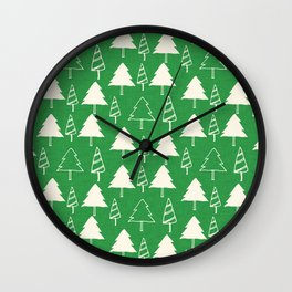 Christmas Tree Green Wall Clock
