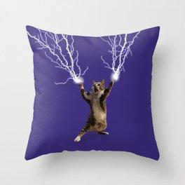 Lightning Cat Throw Pillow