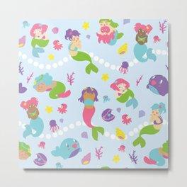 Chibi Mermaid Bebbes Metal Print