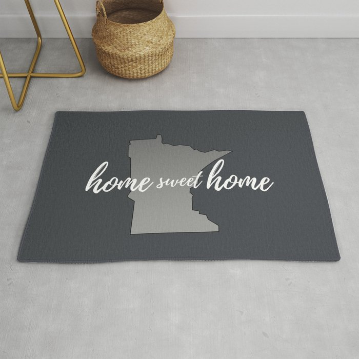 Minnesota Home Sweet Grey Rug By