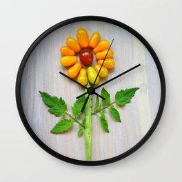 Tomato Sunflower Wall Clock