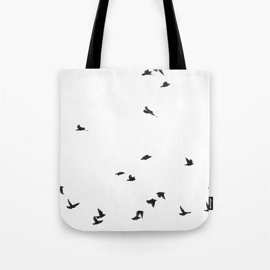 Folks Birds Tote Bag