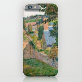 The Field of Derout-Lollichon by Paul Gauguin iPhone Case