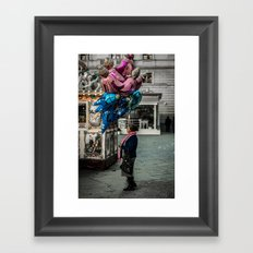 Gypsy with balloons Framed Art Print