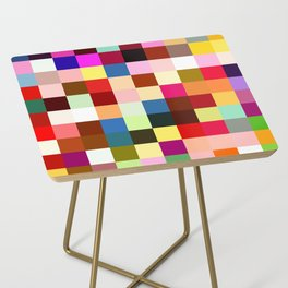 checkered times Side Table