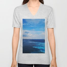 50 shades of Blue i Unisex V-Neck