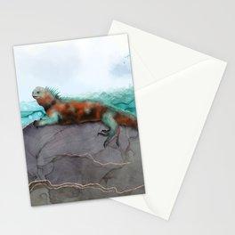 Marine Iguana on the Seashore - Galapagos Endangered Animal Stationery Cards