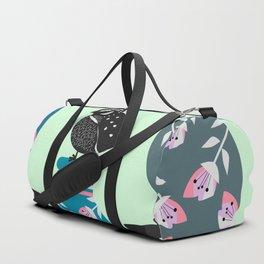 Quail, flowers and vases Duffle Bag
