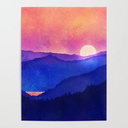 Cobalt Mountains Poster