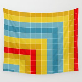 Grid in Roller Rink Wall Tapestry