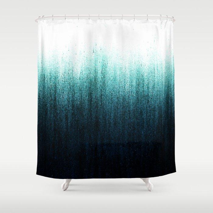 Teal Ombré Shower Curtain