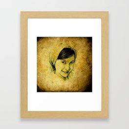 country girl Framed Art Print