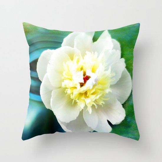 Summer White Throw Pillow
