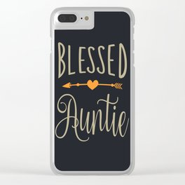 Blessed Auntie Clear iPhone Case