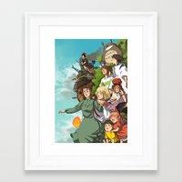 ghibli Framed Art Prints featuring Ghibli by DustyLeaves