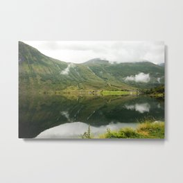 A mountainsview in Norway  | nature photo | fine art photo print | travel photography Metal Print