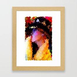 Summer's Over: The Girl In The Harlequin Hat Framed Art Print