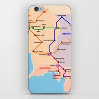 middle earth iPhone & iPod Skins featuring Middle-Earth metro map by tuditees