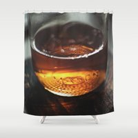 whiskey Shower Curtains featuring Mason Whiskey by Stephen John Bryde