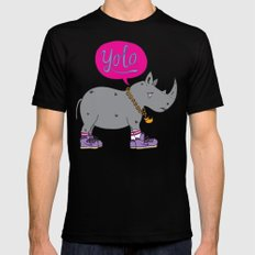 Yolo Rhino Black X-LARGE Mens Fitted Tee