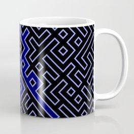 dark blue labyrinth Coffee Mug