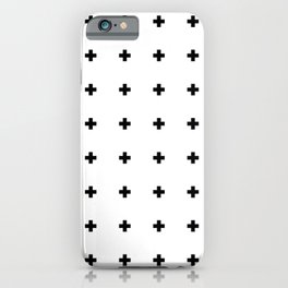 Swiss Cross White Small iPhone Case