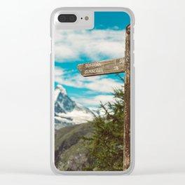 The Matterhorn Valais Switzerland Clear iPhone Case
