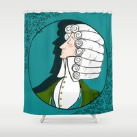 baroque Shower Curtains featuring Baroque & Roll by J.Nell Konschak
