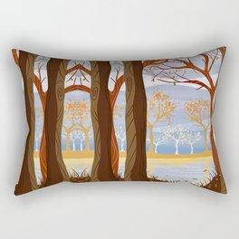 Autumn Leaves Autumn Woods Rectangular Pillow