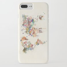world map watercolour Slim Case iPhone 7 Plus