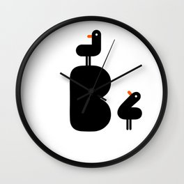 B is for Bird Wall Clock