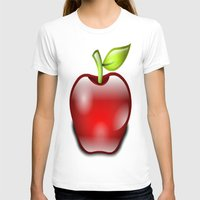 apple T-shirts featuring APPLE by Acus
